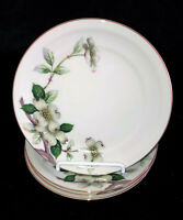 "4 Meito Norleans China * LIVONIA DOGWOOD* 6 1/4"" BREAD / DESSERT PLATES*"