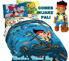 DISNEY JAKE & NEVERLAND PIRATES Boys Bedding Blue TWIN Size Comforter+Sheets+PAL