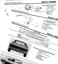 1967 1968 CHEVROLET CAMARO MOTOR'S ORIGINAL BODY FRAME CRASH ILLUSTRATIONS M 4