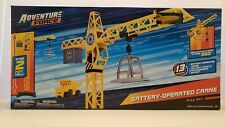 Adventure Force Battery Operated Crane Playset Diecast Construction Car Toy Kids