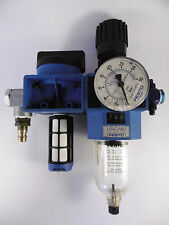 Festo Wartungseinheit 33018 HE-3/8-S-B + 150030 LFR-3/8-S-B Manometer