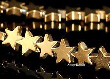 "6MM GOLD HEMATITE GEMSTONE YELLOW GOLDEN STAR 6MM LOOSE BEADS 15.5"""
