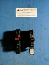 NC120 - FEDERAL PACIFIC/FPE 20A AMP 1P POLE 120V THIN NC STAB-LOK BREAKER - USED