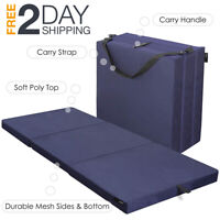 Tri Folding Foam Topper Mattress Twin Size Single Sleep Portable Camping Outdoor
