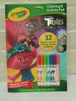 Crayola Coloring & Activity Pad Book Trolls World Tour 32 Pages washable Markers