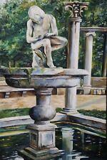 Dornauszieher-Brunnen im Garten von Aranjuez - ÖL-GEMÄLDE