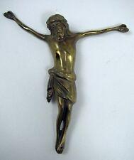 Jesus Figur Messing klein Kreuzfigur Zubehör Sammler religiös Christusfigur