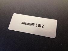 """VW MK1 Golf Paint Code Sticker """"atlaswelß L91Z"""""""