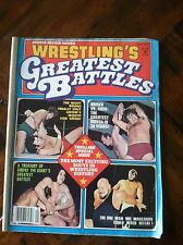 1977 WRESTLING  GREATEST BATTLES BRISCO FUNK MIL MASCARAS BRUNO ANDRE MAGAZINE