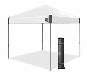 E-Z UP Ambassador Instant Shelter Canopy 10 by 10' White Slate