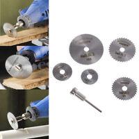 6pcs Circular Saw Disc Set Mini Drill Rotary Tool Wood Cutting Blade AccessoryAB