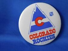 COLORADO ROCKIES NHL HOCKEY TEAM VINTAGE BUTTON FAN SOUVENIR COLLECTOR PIN BACK