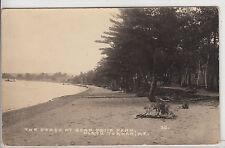RPPC - North Turner, ME - Beach at Bear Pond Park - 1930s era