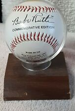 Babe Ruth100th Anniversary Autographed Stamped Commemorative Baseball Very Nice