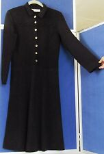 Vntg EUC Classic DANA HOGAN Blk SANTANA Knit DRESS design by ROBYN HOGAN Signatu