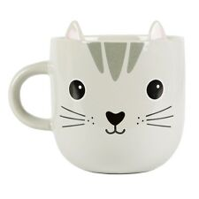 Grey Nori Cat Japanese Kawaii Mug With Ears Cute Japan Pop Culture Character Cup