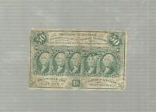 "1862 50 Cent Fractional Currency ""5 Head Washington"" Bill / Original"