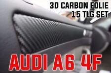 AUDI A6 4F ORIGINAL 3D CARBON ZIERLEISTEN FOLIEN SET , 15 teiliges Folienset 2