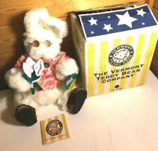 Vermont Teddy Bears Groovy Flashback Hippie Bunny Complete w accessories & Box