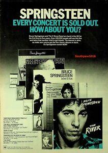 1981 Bruce Springsteen Album Collection & UK Tour Trade Promo Reprint Ad