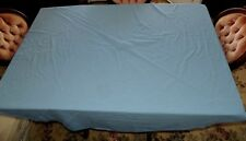 """Vintage Blue Fabric Table Cloth Round 68"""" x 66"""" - Solid Blue Table Cloth"""