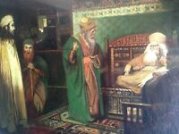 Antique fine oil 19th century Orientalist painting by Jules RICHOMME (1818-1903)