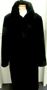 Mantel,schwarz mit samtähnl.Kragen von Erich Fend-Austria , Cashmere Mischung