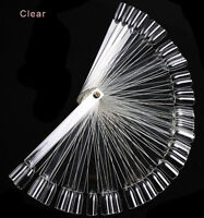 50x Clear Polish Gel Practice Stick Tool Fan Board Nail Art Tip Display Swatches