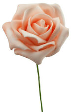 Foam Rose Apricot Ø 7cm Kunstrosen Schaumrosen Dekorosen Rosen