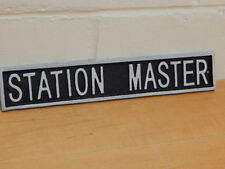 Cast Iron STATION MASTER  Railway Style Wall Sign