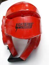 Proforce Lightning Martial Arts Sparring Headgear Helmet, Red, size S