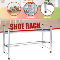 2 Tier Extendable Stackable Shoe Rack Stand Storage Organiser Cabinet Holde