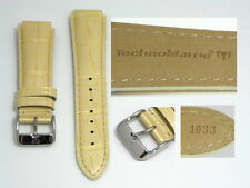 AUTHENTIC TECHNOMARINE GENUINE LEATHER STRAP BAND PEARL GRAY 17MM