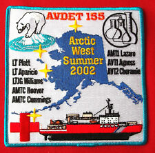 Uscg United States Coast Guard Arctic West Summer 2002 Avdet 155 patch 5X5 In