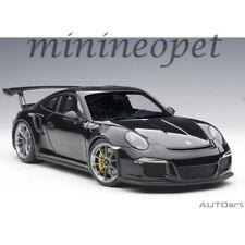 AUTOart 78164 PORSCHE 911 991 GT3 RS 1/18 MODEL GLOSS BLACK with BLACK WHEELS
