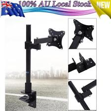 "SINGLE LCD LED  MONITOR DESK STAND MOUNT 3 FULLY ADJUSTABLE JOINS FIT 14""-24"""