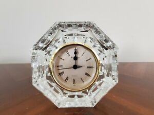 WATERFORD Ireland Cut Crystal Octagonal Quartz Mantel Clock Parts