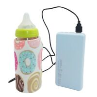 Portable USB Baby Bottle Warmer Cover Travel Cup Heater Baby Milk Feeding Cover@