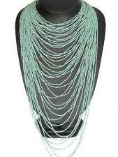 """22"""" OPULENT 40 STRAND TURQUOISE BEADS LAYERED necklace"""