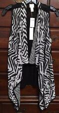 Chico's Sheer Black Shanaya Sweater Vest Size 0 (4/6) NWT