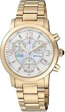 Citizen Eco-Drive Gold Tone Stainless Steel Ladies Watch FB1012-51D