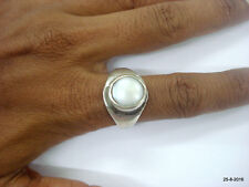 Pearl Gemstone Moti stone ring vintage antique tribal old silver Ring
