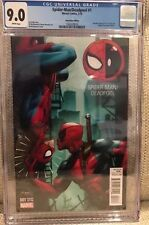 SPIDERman Spider Man  DEADPOOL #1 GameStop Edition Variant 9.0 CGC 1/3000