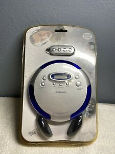 portable cd compact disc player blue anti skip Audiophase Cd315 Neverskip
