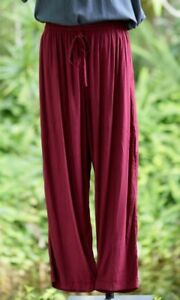 ZenLife Mens Comfy Casual Bliss Pants - Burgundy