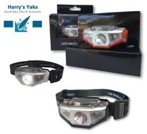 LED Waterproof Head Torch, Lightweight Lamp - 6x Modes, Outdoor, Camping, Hiking