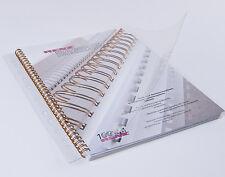 100 Deckblätter aus Klarsichtfolie RENZ, Transparent - Stärke zur Auswahl