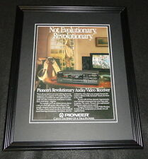 1987 Pioneer Audio/Video Receiver Framed 11x14 ORIGINAL Advertisement