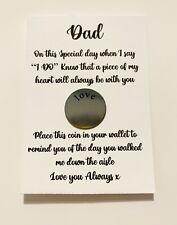 For Your Dad On Your Wedding Day ... Sentimental , Loving , Keepsake