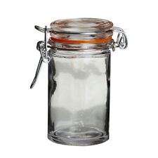 Premier Set of 4 60ml Glass Jars Pots With Airtight Clip Top Lid Christmas Gift